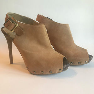 Sam Edelman Boutique Suede/Snake Pumps